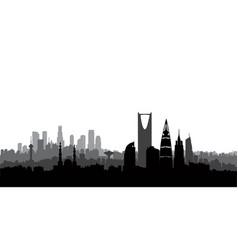 riyadh city skyline cityscape silhouette vector image