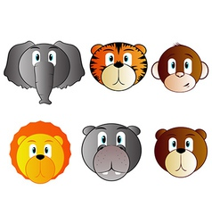 Safari animal babies vector