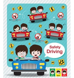 Safety driving infographic sign vector