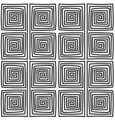 Seamless monochrome meander pattern vector