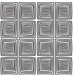Seamless monochrome meander pattern vector