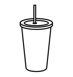 soda drink in plastic cup vector image