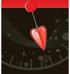 valentine love heart vector image vector image