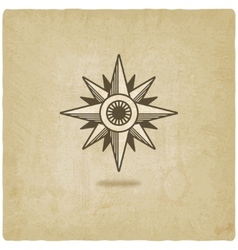 wind rose old background vector image