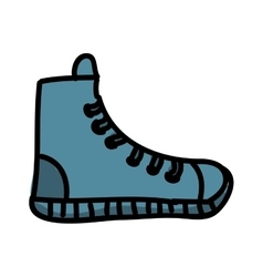 Young shoes isolated icon design vector