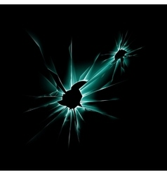Green Shattered Glass Window with Sharp Edges vector image