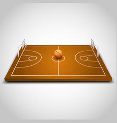 Basketball 3d field vector