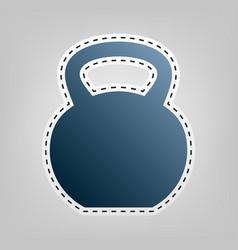 fitness dumbbell sign  blue icon with vector image