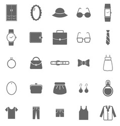 Dressing icons on white background vector image