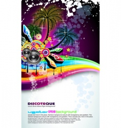 Tropical disco dance background vector