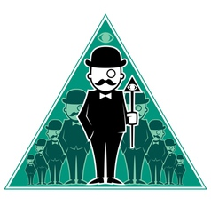 Hipster secret society vector