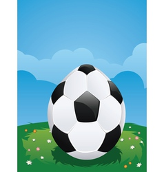 Soccer ball egg vector