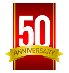 50 anniversary label vector