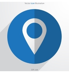 Map pointer web flat icon vector