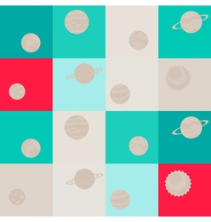 Seamless background with planets vector