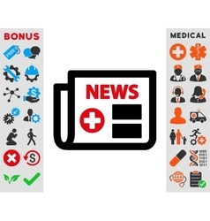 Medical newspaper icon vector