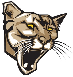 Cougar panther mascot head graphic vector