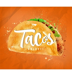 Tacos color vector