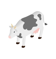 Spotted cow isometric 3d icon vector