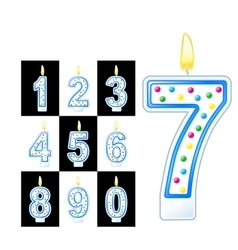 Birthday candles number vector