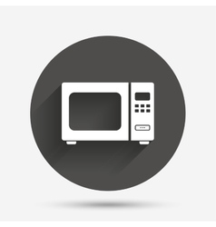 Microwave oven sign icon kitchen electric stove vector