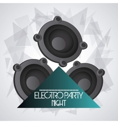 Speaker icon dance and music design vector