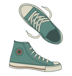 Seamless hip shoe collection vector