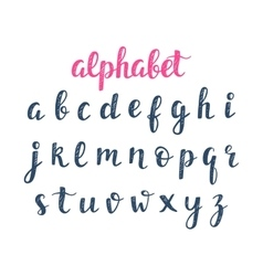 Alphabet abc hand lettering vector