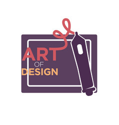 Art of design colorful logo label isolated on vector