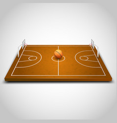 basketball 3d field vector image