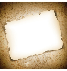 Burned Empty Paper vector image vector image
