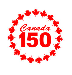 Canadian maple 150 years vector