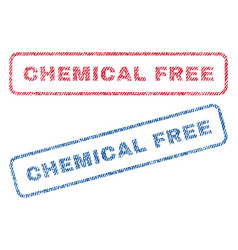 Chemical free textile stamps vector