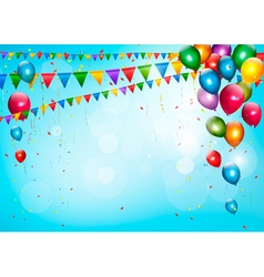 Colorful holiday background with balloons and vector