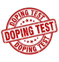 Doping test red grunge stamp vector