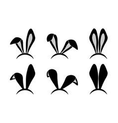 Easter bunny ears mask vector