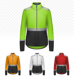 female reflective jacket isolated on transparent vector image
