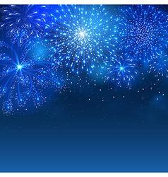 Firework blue vector