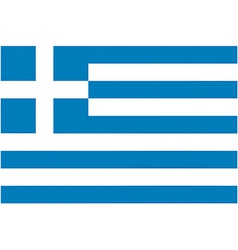 greek flag vector image vector image