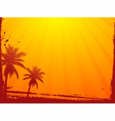 Grunge summer sunset vector