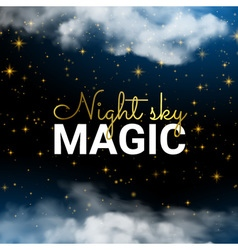 Infinity Magic Night Sky Cloud Blue Background and vector image vector image