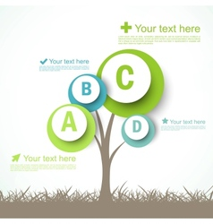 Infographic design with abstract tree vector image