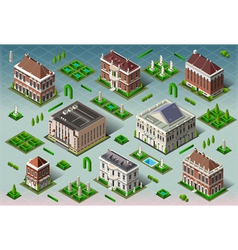 Isometric historic american building vector