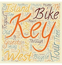 Key West Bike Tour Island Adventure text vector image vector image