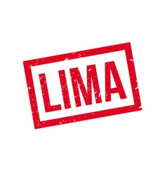 Lima rubber stamp vector image vector image
