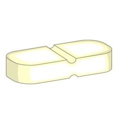 Medicine pill icon cartoon style vector