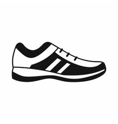 Men sneakers icon simple style vector image vector image