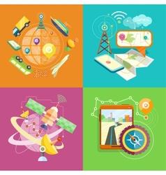 Mobile GPS navigation travel and tourism vector image