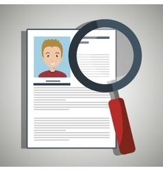 Search curriculum cv man vector