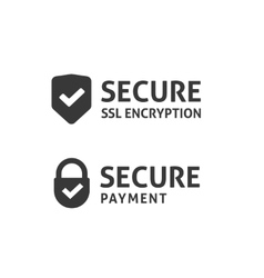 Secure connection icon secured ssl shield vector image